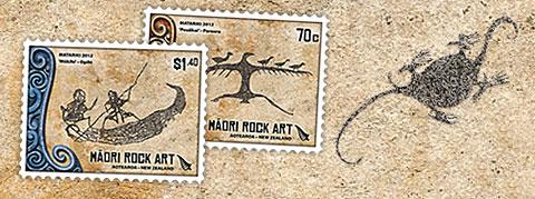 stamps maori rock art